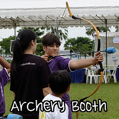 Archery Tag target shooting booth in Singapore