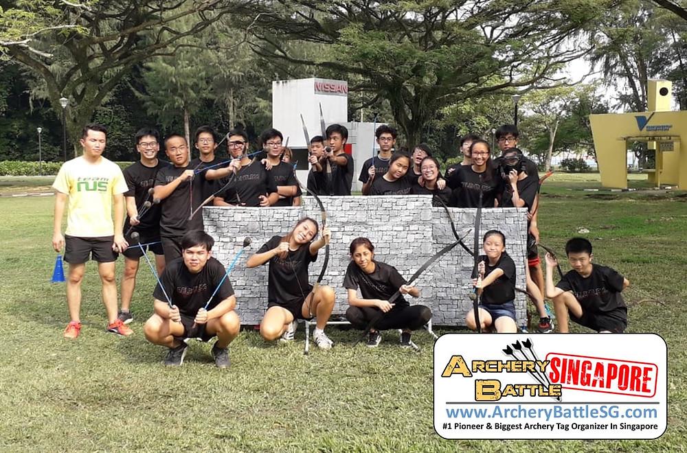 Group photo Archery Tag at East Coast Park