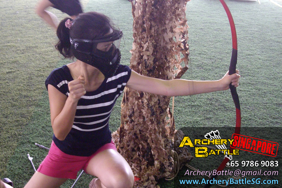 Crimson Bow Lady - Archery Tag for Monetary Authority of Singapore