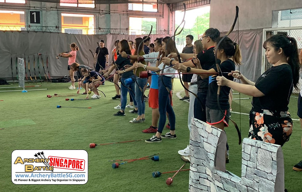 Basic Archery shooting and practice in Archery Tag Singapore