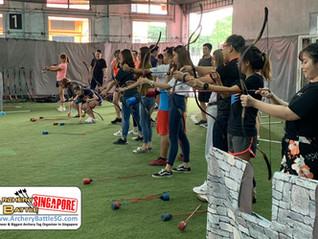 35 pax Archery Tag Team Building