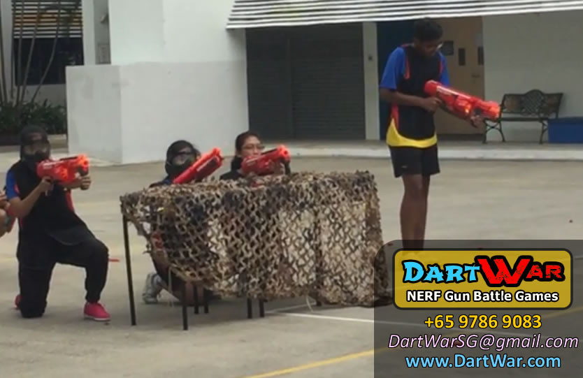 Taking Cover - NERF Team Building & Cohesion at Woodlands Secondary School by Dart War