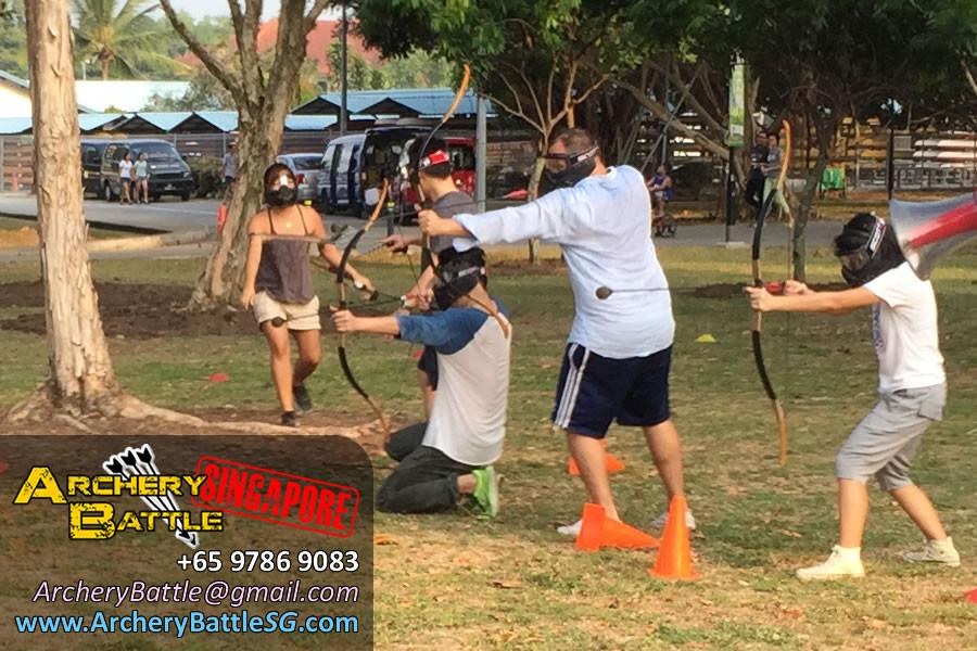 Archery Tag Singapore at Changi Beach Park