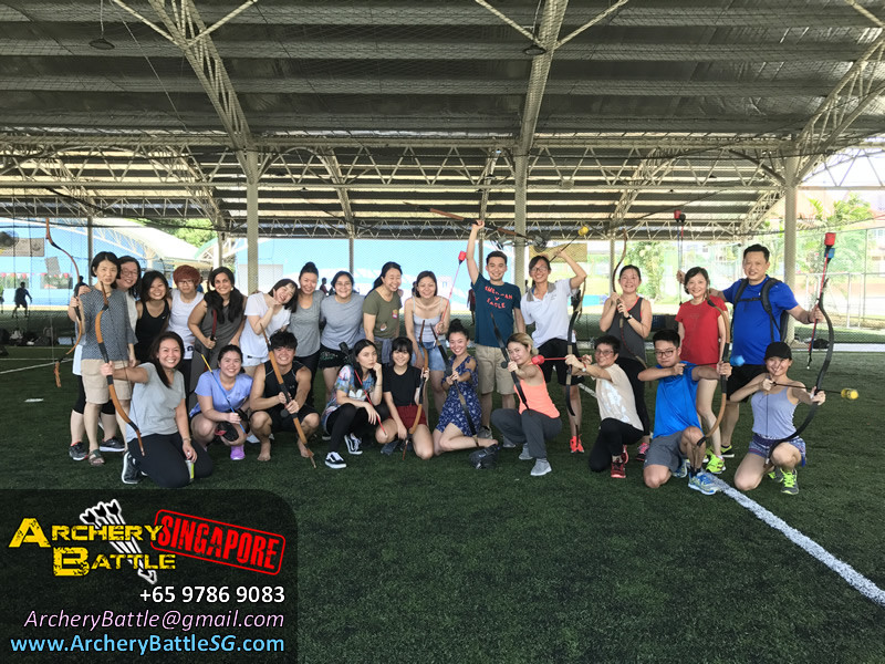 Group photo Archery Tag Singapore