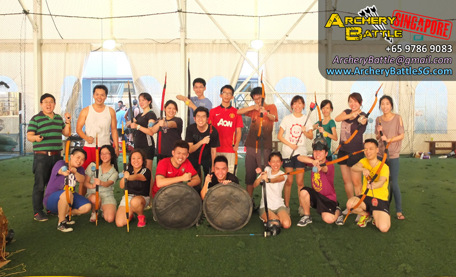 Group Photo Archery Tag Singapore Casual Game for Friends
