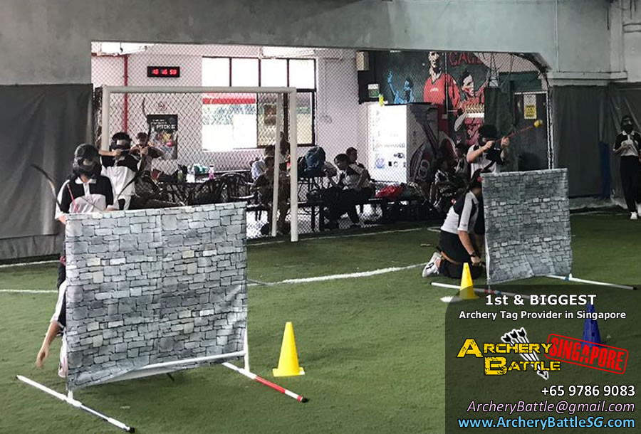 Take cover at Archery Tag Singapore