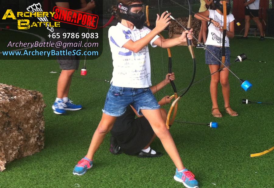 Power stance Archery Tag Singapore Birthday Party