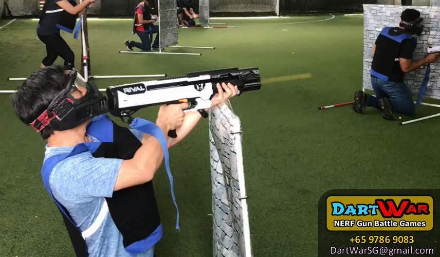 Modified NERF Rival Machine Gun