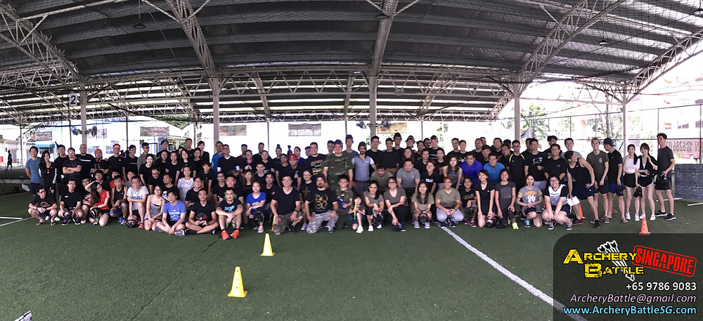 100 pax Archery Tag game!