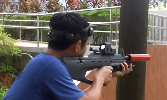 Scope on Laser Tag Rifle in Singapore