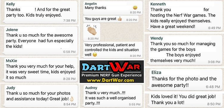 Reviews by previous NERF parties we organized in Singapore