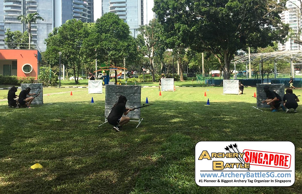 Archery Tag battlefield at East Coast Park