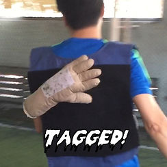 Zombie player successfully tag humans in Zombie Tag Singapore team building