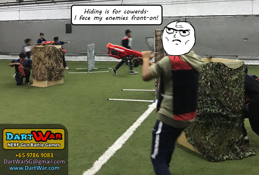 Midnight Dart War NERF Singapore event never take cover