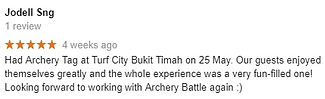 Review by Jodell about Archery Tag Singapore