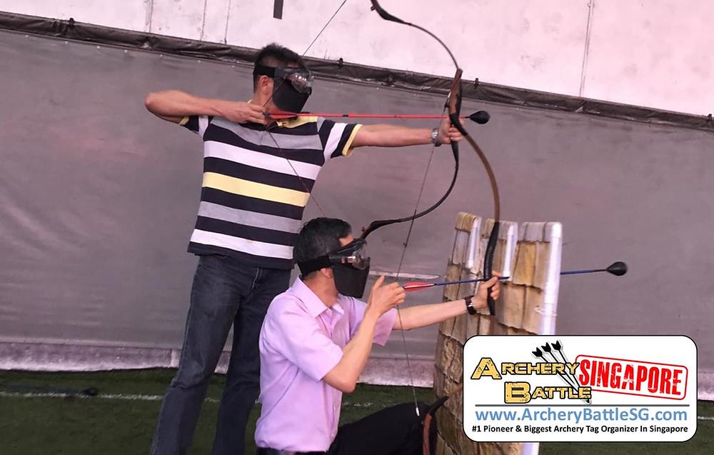Archery Tag Castle Defence buddy system