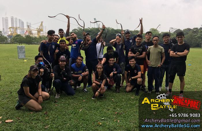 Group Photo Archery Tag Singapore West Coast Park