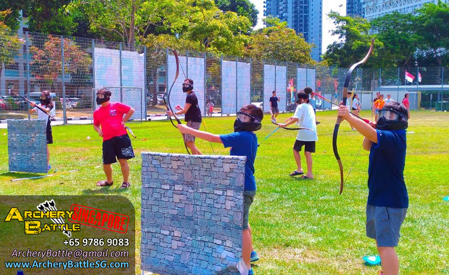 Archery Tag Singapore Carnival Event - Teamwork with Kids