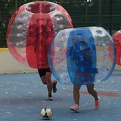 Bubble Soccer Futsal Game Mode - Team Building Activity Game in Singapore