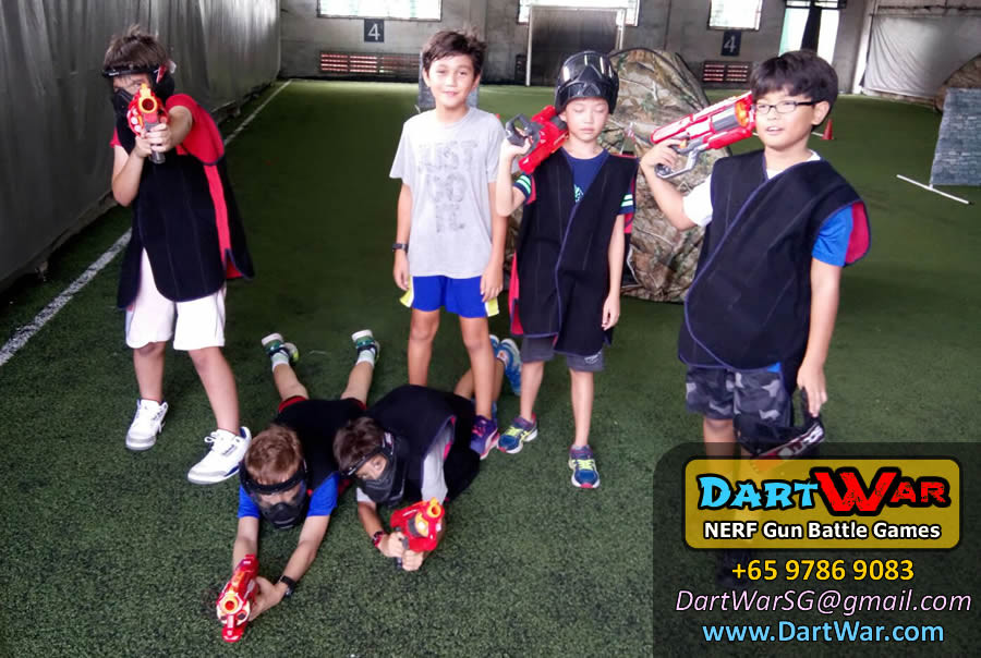 Red Team Dart War NERF Gun Birthday Party