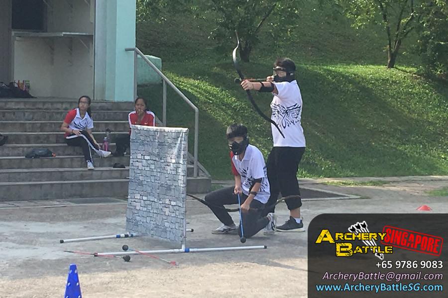 Tag team spirit - Archery Tag Singapore