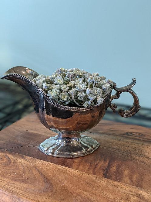 Intricate Silver-plate Gravy Boat