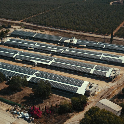 פאנלים סולאריים על גגות לולים