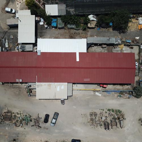 החלפת גג מבנה בקיבוץ חולדה