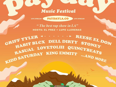 Emmitt Dupree performs in LA for the Payday Music Festival