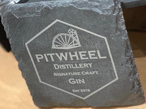 PitWheel Branded Slate Coaster