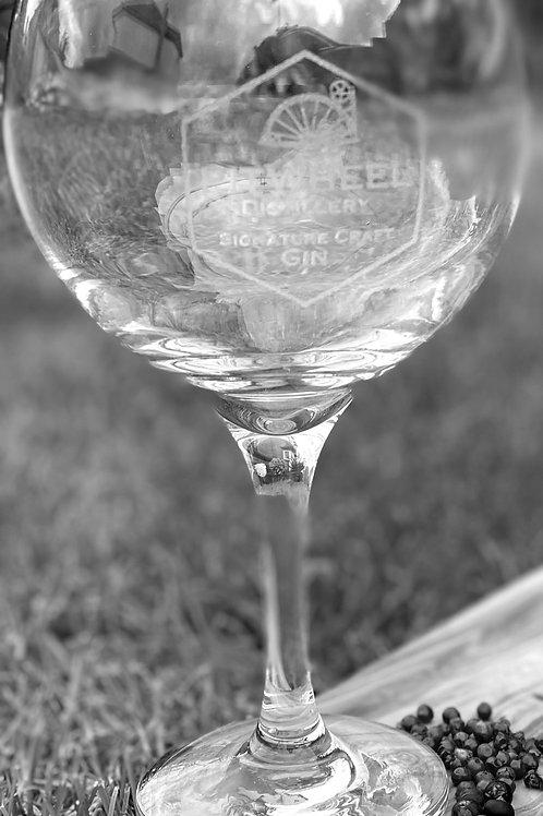Pitwheel Balloon Gin Glass - Engraved