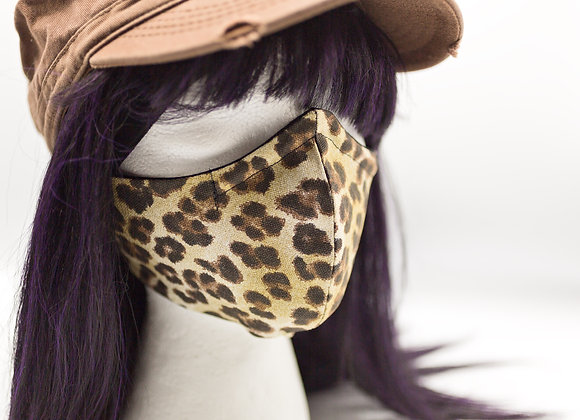 Face Mask  with Filter Pocket made in USA, Animal Print, Mask with Nose Shaping,