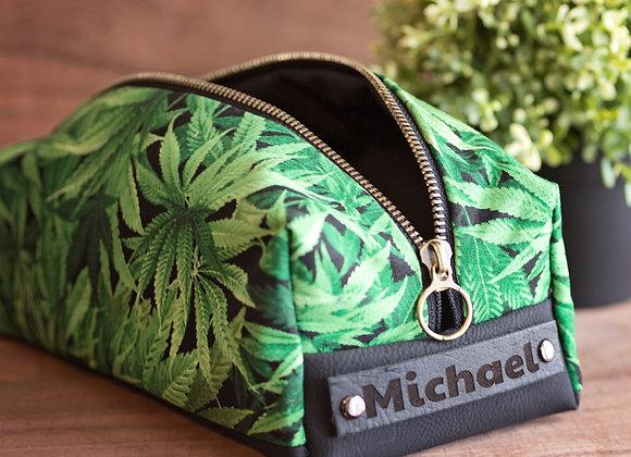 Personalized Dopp Kit, pouf, Cannabis Weed Bag, Travel Dopp Kit, Men's Women's T