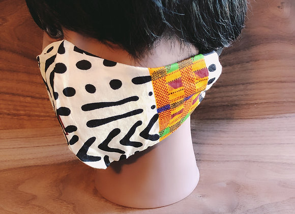 African Print Face Mask with Filter Pocket made in USA