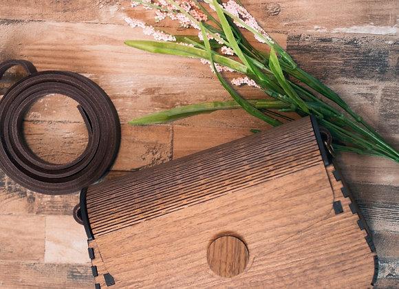 Vintage wooden bag, wood clutch, black girls vintage handbag, brown wooden bag