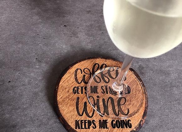 Engraved Wood Slice  Coasters