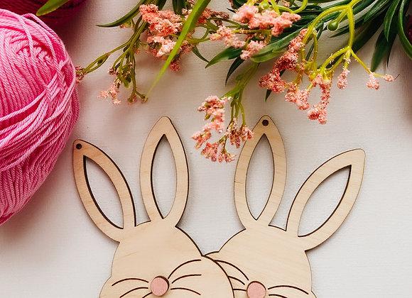 Wood Easter Bunny Gift Tags, Birchwood Bunny Rabbit Tags, Reusable Gift Tags Set