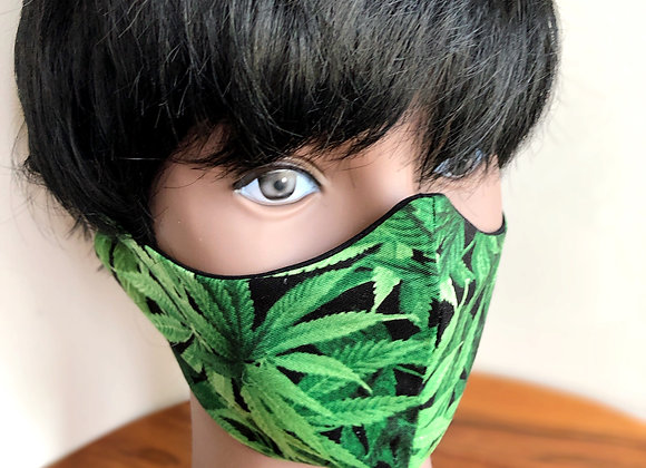 Weed  Mask with Filter Pocket made in USA, Cannabis Face Mask