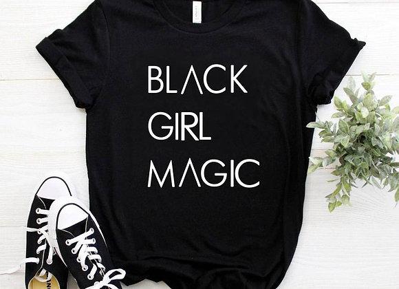 BLACK GIRL MAGIC Letters Print Women Tshirt Cotton Casual  T Shirt