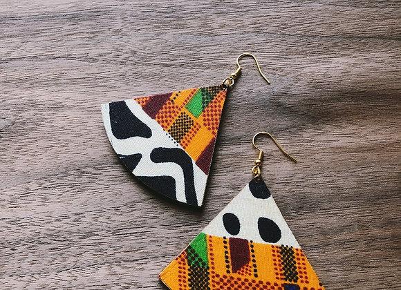 Kente Cloth African Fabric Earrings