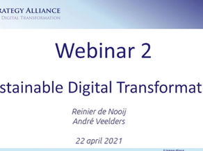 Webinar Duurzame Digitale Transformatie van 22 april 2021