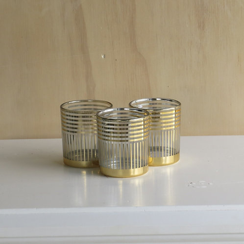 Gold Glass Candleholders