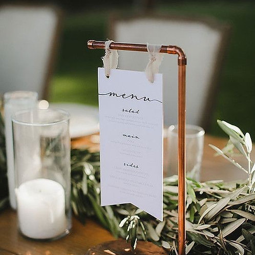 COPPER TABLE NUMBERS/MENU HOLDERS