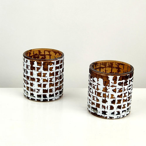 Amber Glass Candle Votives