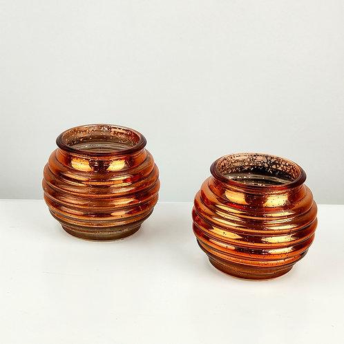 Copper Glass Tealights