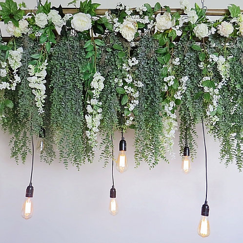 Eucalyptus & Wisteria Hanging Ladder with lights