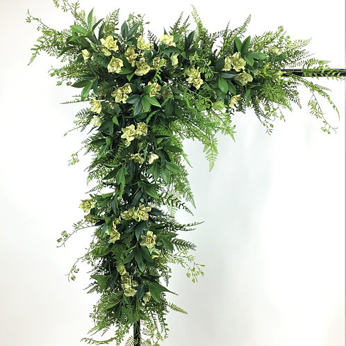 Winter Roses & Fern Corner Garland