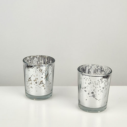 SILVER MERCURY GLASS T-LIGHTS