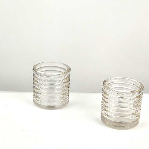 RIBBED GLASS T-LIGHTS