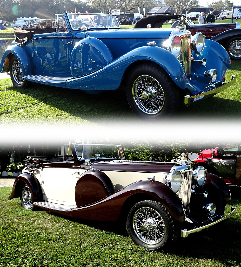 1936 Lagonda LG45. New Owner Tom Griffith brought her back to the original color of xxx blue to take first-in-class at the 2018 Amelia Island Concours